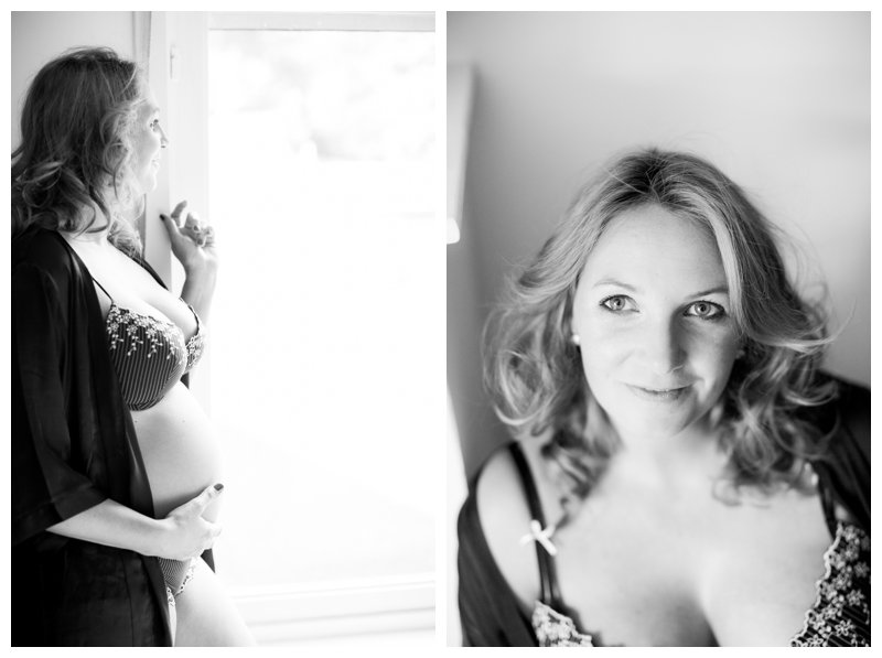 maternity boudoir session by revealed photography